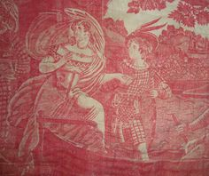 Morgaine Le Fay antique Textiles and More: A Delivery of 19thc toile Fragments for Study
