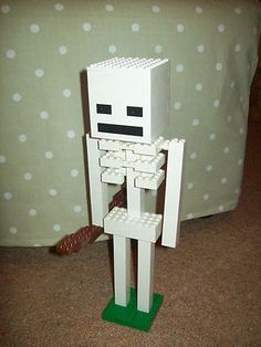 Lego Minecraft Custom Built Skeleton with Instructions | eBay