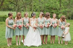 Dresses in a pretty shade of mint.