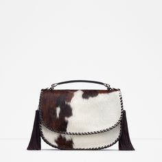 PRINTED LEATHER MESSENGER BAG - View all - Woman - NEW IN | ZARA Georgia