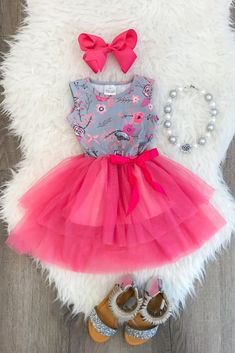 The Kaylee Floral Tutu Dress from Sparkle in Pink
