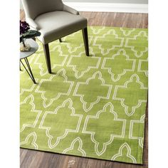 nuLOOM Flatweave Modern Geometric Printed Trellis Cotton Rug (5' x 7') - Overstock Shopping - Great Deals on Nuloom 5x8 - 6x9 Rugs