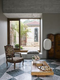 An Addition to a 1940s Home in Sydney Amplifies Its Connection to the Outdoors #dwell #homeaddition #australia #moderndesign #terrazzo Isamu Noguchi, 1940s Home, Recycled Brick, Terrazo, Terrazzo Flooring, Australian Homes, Modern Spaces, Architectural Digest, Modern Architecture