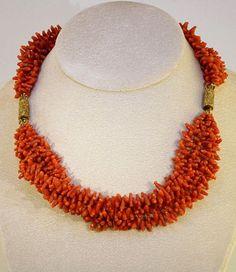 A regency era coral necklace.
