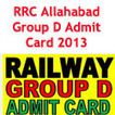 RRC Allahabad Group D Admit Card 2013 Download Call letter   www.rrcald.org   Best Students Portal