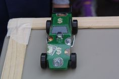 Nic Cale's Pinewood Derby car, winner of the Best Looking Car Award and second-place finisher in the races. (Photo by Wolfgang Baldus)