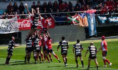 Pirámide humana. ¡Viva el rugby!