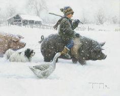 Piggyback Art Print Poster by Robert Duncan Online On Sale at Wall Art Store – Posters-Print.com