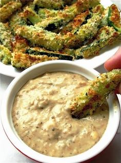 Now You Can Pin It!: Baked Zucchini Sticks and Sweet Onion Dip