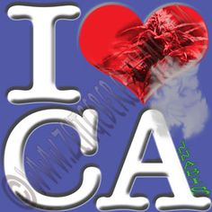 "Help make California greener. Up close ""I [heart] CA"" actually reads ""I love Cannabis"". http://www.cafepress.com/thenaughtynook/10428044"