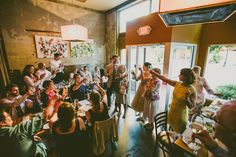 Sarah and Tim's 23 guest reception at Rue Cler Restaurant. Photos by Carolyn Scott.  Read more here... @intimateweddings.com #reception #smallweddings
