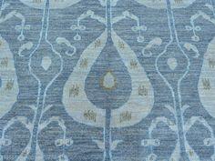 So much but beautiful Ikat Uzbek Design 100 Percent Wool Hand Knotted Oriental Rug- Product:10-x14-Ikat-Uzbek-Design-100-Percent-Wool-Hand-Knotted-Oriental-Rug-Sh27196