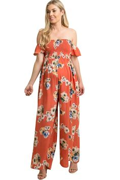 f00eb1648333d Maternity Styles - skinny maternity dresses : Maternity Dress Off Shoulder  Romper Pregnancy Floral Dress Wide