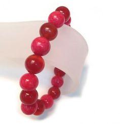 Carnelian and Mountain Jade Stretch Bracelet by HannahsGems for $10.66 #zibbet #bracelet #red
