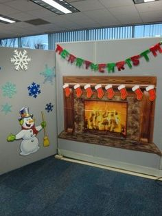 Office Christmas cube Decorating Ideas | How to Decorate for an Office Christmas Party