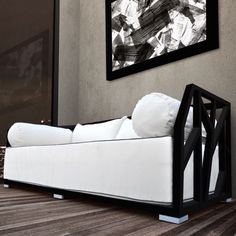 Nidum Deep Seated Patio Modern Daybed with Cushions