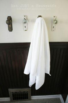 old door knobs for a towel rack