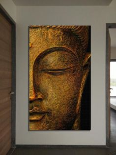 Kind Arts - Offering Multi Color Canvas Buddha Painting, Shape: Rectangular in Surat, Gujarat. Buddha Canvas, Buddha Wall Art, Buddha Decor, Buda Painting, Encaustic Painting, Blue Tower, Buddha Kunst, Emboss Painting, Buddha Face