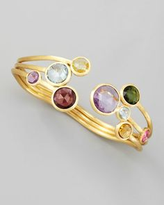 Jaipur Three-Strand Mixed-Stone Bangle by Marco Bicego at Neiman Marcus.