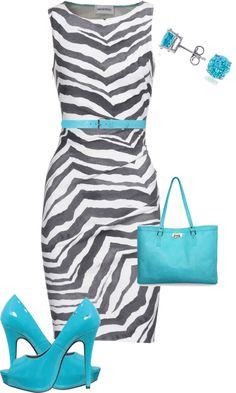 Zebra dress? I already have one! Need the shoes, belt & bag.