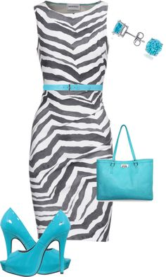 Zebra dress? I already have one! Need the shoes, belt & bag.