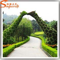 Factory customize artificial plastic garden topiary frames, View garden topiary…