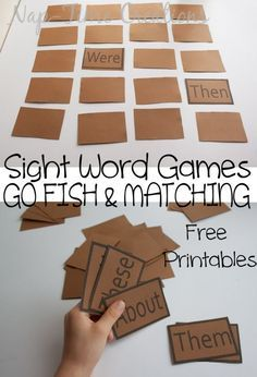 Students must match sight words. This can be a game in class or a game to take home to practice sight words at home. If the student flips over then and were, they are obviously not a match so they will need to retry. Teaching Sight Words, Sight Word Practice, Sight Word Activities, Sight Word Wall, E Learning, Teaching Reading, Learning To Read Games, Guided Reading, Learning Spanish
