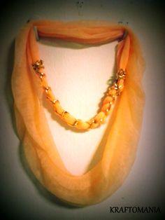 Double tone pendant scarf scarf type chiffon pendant rings looped scarf with chain pendant scarf type chiffon pendant fashion metal chain mozeypictures Choice Image