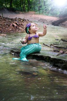 Mermaid Photography Prop Crochet Mermaid by LongHaulAccessories Baby Girl Photos, Newborn Photos, Baby Pictures, Birthday Pictures, Mermaid Photo Shoot, Mermaid Pictures, So Cute Baby, Cute Babies, Cute Kids