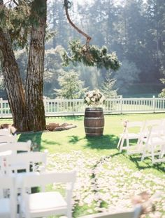 Romantic Napa ceremony: http://www.stylemepretty.com/2015/05/27/romantic-meadowood-napa-wedding/   Photography: Coco Tran - http://www.cocotran.com/