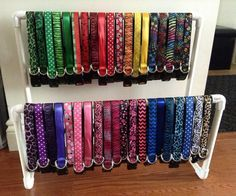 A rainbow of collars!