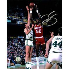 Ralph Sampson Signed Houston Rockets Layup 8x10 Photo (Getty #52165386)