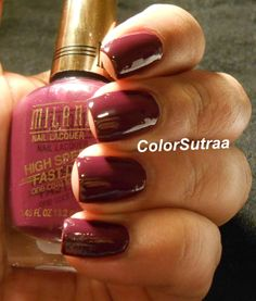 MILANI Nail Lacquer High Speed Fast Dry : Swatches and Review Sangria Rush