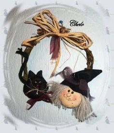 "El rincón de Chelo: Tutorial ""Corona de Halloween"""
