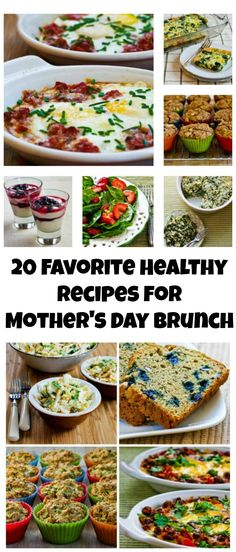If you're cooking brunch on Mother's Day, here are 20 Favorite Healthy Recipes for Mother's Day Brunch.  All these recipes have been really popular on the blog, and I bet they'll be popular with your mom as well!  #MothersDay  #Healthy #Brunch [from KalynsKitchen.com]