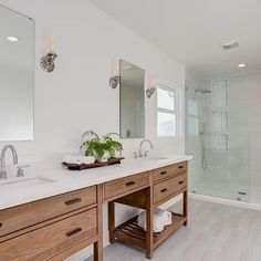 Meet our clean, simple, modern yet warm bathroom. On the opposite side of this is a large spa like tub.........