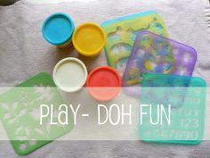 Play-doh Ideas: Use Stencils