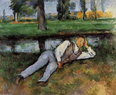 Trademark Art 'Boy Resting' by Paul Cezanne Oil Painting Print on Wrapped Canvas Paul Gauguin, Paul Cezanne Paintings, Oil Paintings, Vincent Van Gogh, Canvas Art, Canvas Prints, Canvas Size, Postcard Art, Pierre Auguste Renoir