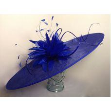 Hat 1699 Cobalt blue for hire Wedding Hat available to hire or buy from hadleigh hats in Essex. www.hadleighhats.co.uk