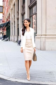 Neutrals in Tribeca - Bailey44 skirt // Cami NYC tank Theory blazer // Aquazzura heels  Celine bag // Jennifer Zeuner necklace Monday, August 3, 2015