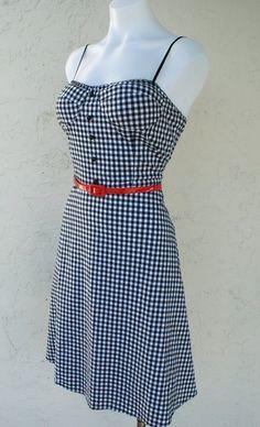 gingham rockabilly retro dress