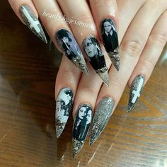 Nailart, Halloween Nail Art, Goth Girls, Beauty, Claws, Sweet, Instagram, Painting, Candy