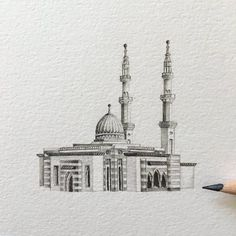Mosques are traditionally known for their splendidly elaborate architecture, with elegant halls, courtyards, and niches providing precious space for congre Medina Mosque, Mosque Architecture, Tourism Poster, Islamic Wallpaper, Grand Mosque, Detailed Drawings, Sketch Design, Beautiful Images, Art History