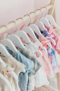 In the Nursery with Monika Hibbs - loving these itty bitty baby clothes!