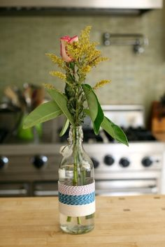 Twine Wrapped Vases- Teacher Appreciation Week Ideas  my.life.at.playtime.