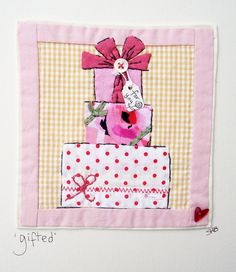 Freehand Machine Embroidery, Free Motion Embroidery, Free Machine Embroidery, Hand Applique, Applique Patterns, Embroidery Applique, Wedding Embroidery, Fabric Postcards, Fabric Cards