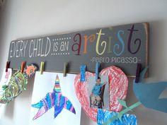 Every Child Is An Artist Children's Artwork Display Brag Board