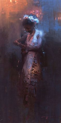 """Jeremy Mann """"Eve"""" 12 x 24 inches"""