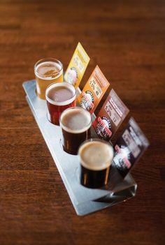 Beer Flight Damgoode Pies Little Rock, Arkansas Brewery Decor, Brewery Design, Beer Brewing, Home Brewing, Beer Sampler, Brew Bar, Beer Shop, Whisky Tasting, Beer Brands