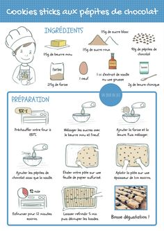 54 Ideas For Cookies Recette Enfant Cookie Recipes From Scratch, Oatmeal Cookie Recipes, Chocolate Cookie Recipes, Easy Cookie Recipes, Oatmeal Cookies, Fun Recipes, Healthy Toddler Breakfast, Baby Spinach Salads, Learn French Fast